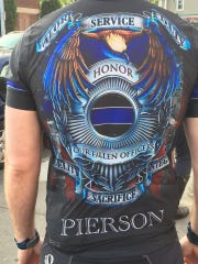 Shirt being worn during the Police Unity Tour.