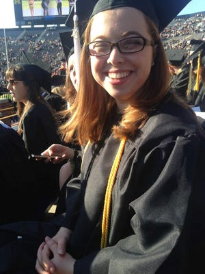 Katie Diekman, 22, graduated from the University of Michigan in May and is looking for a job at a nonprofit.