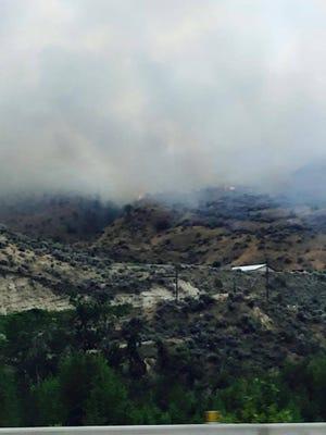 Fire burning near Wenatchee.