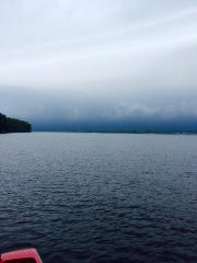Strong storms pass through Hardy Dam Pond, Newaygo (July 18, 2015).