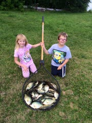 Anna & Jeffry Wegner with a nice catch of crappies