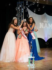 Christina Morcus is crowned 2015 National American Miss California Pre-Teen on July 18.