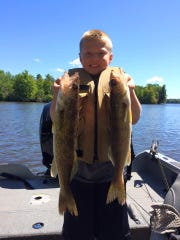 Ethan Steinback with a couple of nice walleyes