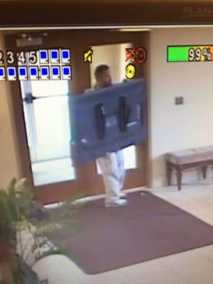 Wisconsin Rapids police are hoping to identify the person in this surveillance video who they say stole a television from Saints Peter and Paul Church, 1150 Second St. N., Wisconsin Rapids.