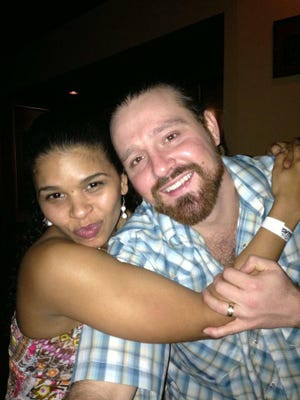 Blake and Keila Griffin. Blake was shot Monday at a home in Tallahassee. The couple are expecting their first child.