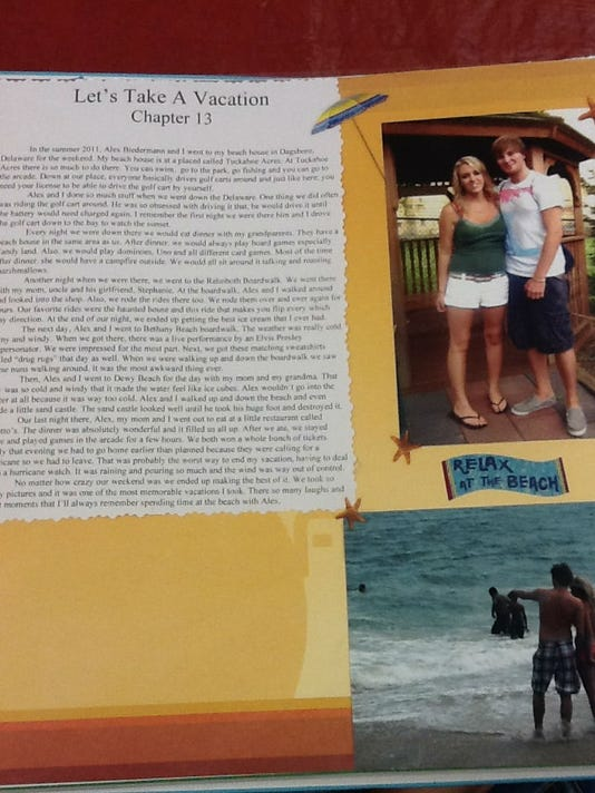 This is a page from senior Brianna Vanhart's memory book.
