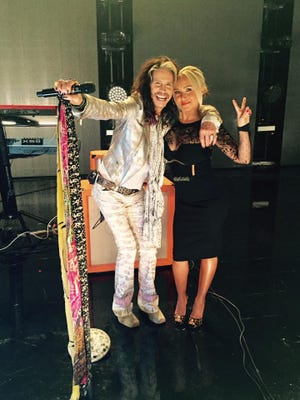 Steven Tyler and Hayden Panettiere on the set of ABC's 'Nashville'.