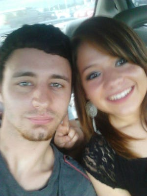 Daulton Holly with his fiancee, Jennie Morgan. Holly was killed in a West Des Moines hit-and-run.