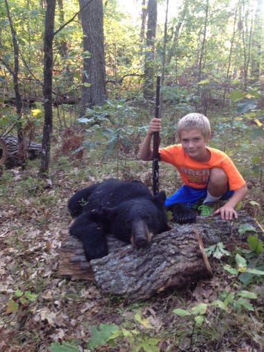 Chris Nackers' 12 year old son, Daniel, shot this bear