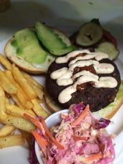 The vegetarian beach burger at Dive Coastal Bar and Food Joint in Sea Bright.