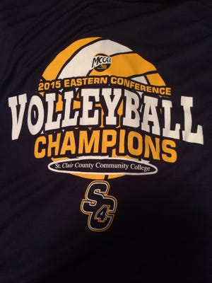 The SC4 volleyball team clinched at least a share of the league title Saturday with a pair of victories over Alpena Community College