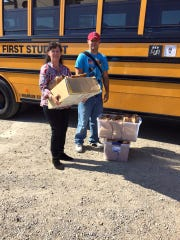 Volunteers from the Church of St. Edward the Confessor provide meals for Lunches For Hope.