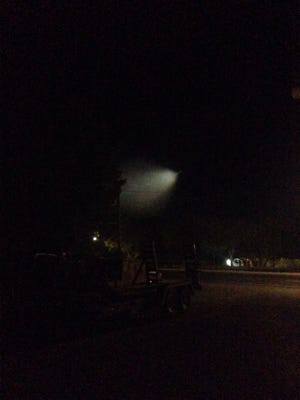 A strange light was spotted in the sky over Southern Utah Saturday night.