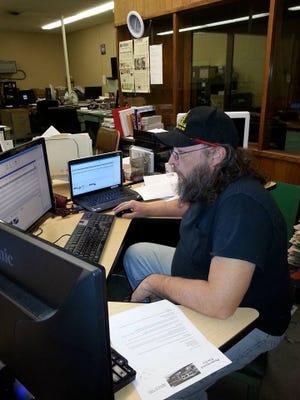 Rahn Forney at his desk.