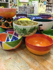 Bowls by local artists will be available with lunch