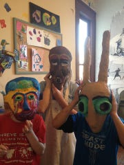 Students made masks at Renzi Education and Art Center.