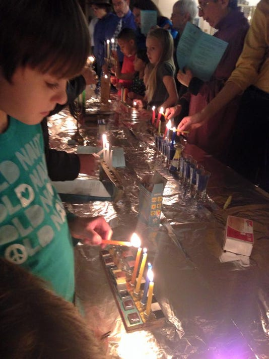 Hanukkah celebration at Temple Beth-El