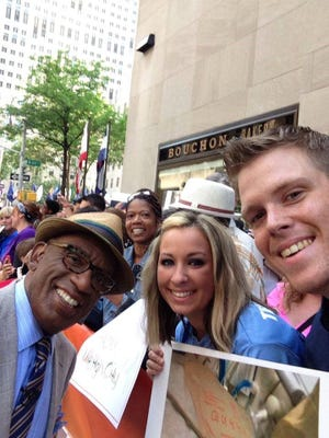 Amber and Sam Sanders, pictured with Al Roker, appeared on the Today Show during their efforts to raise money for HLH, a rare disease that claimed the life of their newborn son, Levi. Now, the couple  is trying to save the life of their unborn daughter, Kayleigh, who also has HLH. A bone marrow drive   will be held in their honor on Dec. 6.