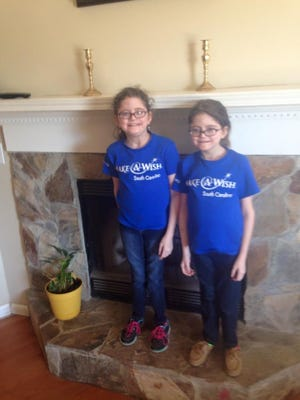 Twins Grace and Hanna will have their wishes come true during a special event at Macy's in Haywood Mall, on Dec. 11.