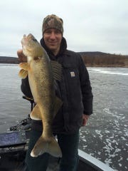 Ron Wendorski with a Wisconsin River walleye.