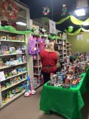 A room full of toys awaits children whose parents took classes at the Dream Center.