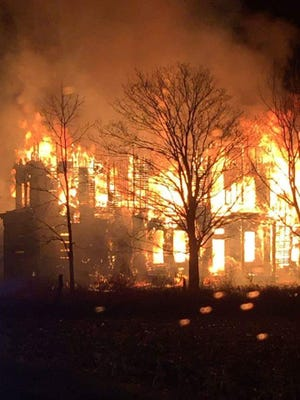 Historic Nova House  was destroyed by a fire overnight. The house had been abandoned since about the 90s.