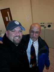 Haji, Muslim-born from Iran, is truly one of the kindest people I've ever met! He's a Political Science professor and I took a U.S. Government class with him. Again, another person that didn't try to stab me with a knife or shoot me with a gun. Please feel free to share any and/or all of these posts I've been doing! I encourage you to take #selfieswithmuslims as well and use this hashtag. If you identify as Muslim or know someone that does, get in touch with me or grab me on campus somewhere. I have a BIG #selfieswithmuslims coming up next friday so stay tuned! Education is the only way to combat ignorance! #stillalive #istandwithislam