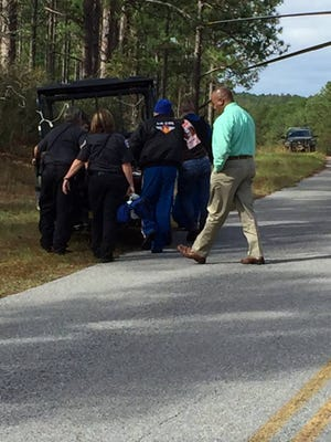 A hunter is in stable condition on Tuesday, one day after being injured in a hunting mishap in the Kisatchie Wilderness area in Natchitoches Parish, according to a release.