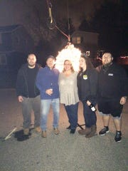 The Brown family, from left to right, includes Joshua, Kevin, Teresa, Lauren and Conner Brown. They plan the ball drop each year.