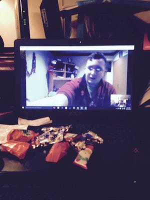 We may have forgotten how to train carrier pigeons, but we've learned how to Skype with our Senior Airman in Japan.