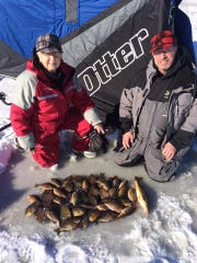Jon and Jean Radtke with a nice mess of central Wisconsin panfish