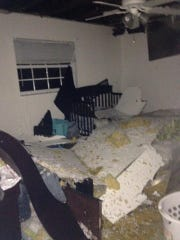 Bedroom of home in SW Cape Coral off Skyline Boulevard and Mohawk Parkway.