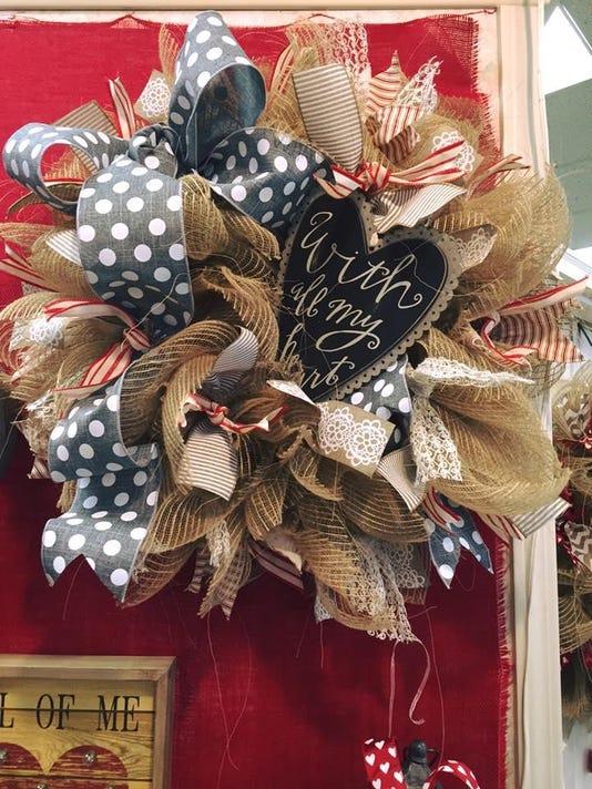 Dees Crafts Valentines Wreath