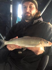 A nice white fish out on Chequamegon Bay.