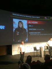 Local race car driver Ali Kern announced to be on racing team Rev Racing after diversity showcase in Virginia.