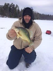 Travis Andrus with a nice crappie