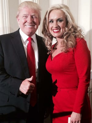 Donald Trump with Tennessee supporter Scottie Nell Hughes