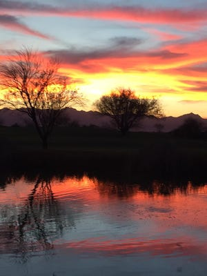Marc Clausen shared this photo of the sunset as seen from The Sheraton at Wild Horse Pass on Feb. 27.