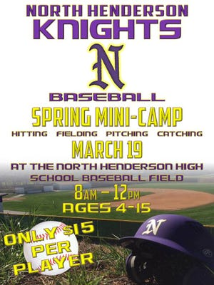North Henderson baseball will host a spring mini-camp on March 19 at the high school.