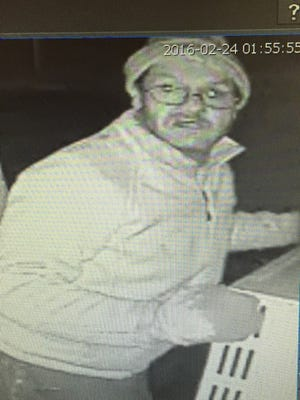 Photo of suspect in alleged robbery of Bossier City tavern.