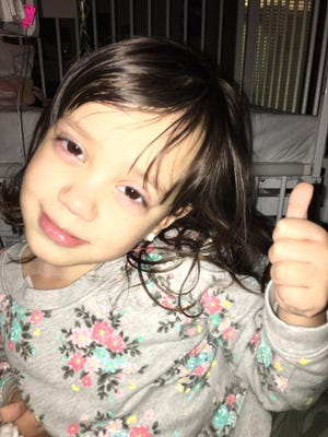The community rallied around 3-year-old Emily Theisen after she was admitted to the hospital.
