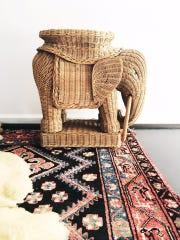 Vintage Wicker Elephant Planter $145 (buy).