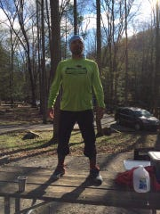 Ed Thomas just before the start of the Barkley Marathons.