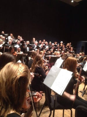 """The Minnesota Center Chorale performs with the College of St. Benedict and St. John's University Symphony in 2014. The groups come together again this Sunday to perform Franz Joseph Haydn's """"The Creation""""."""