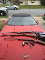 Firearms, drugs and more were seized during Toro Park search warrants over the weekend.