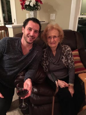 Ryan Callahan and his grandmother, Adriana Giancursio, at Christmas 2014.