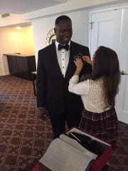 Vernon Butler gets ready with help from his stylist