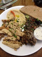 The chicken shawarma plate lunch at Sandra's.