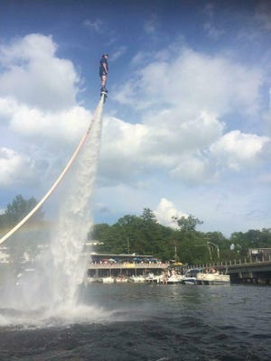 Last year's Aquamania featured a water-powered jet pack demonstration.