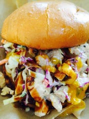 The  Asian chicken salad from Chef C's Munchie Mobile.